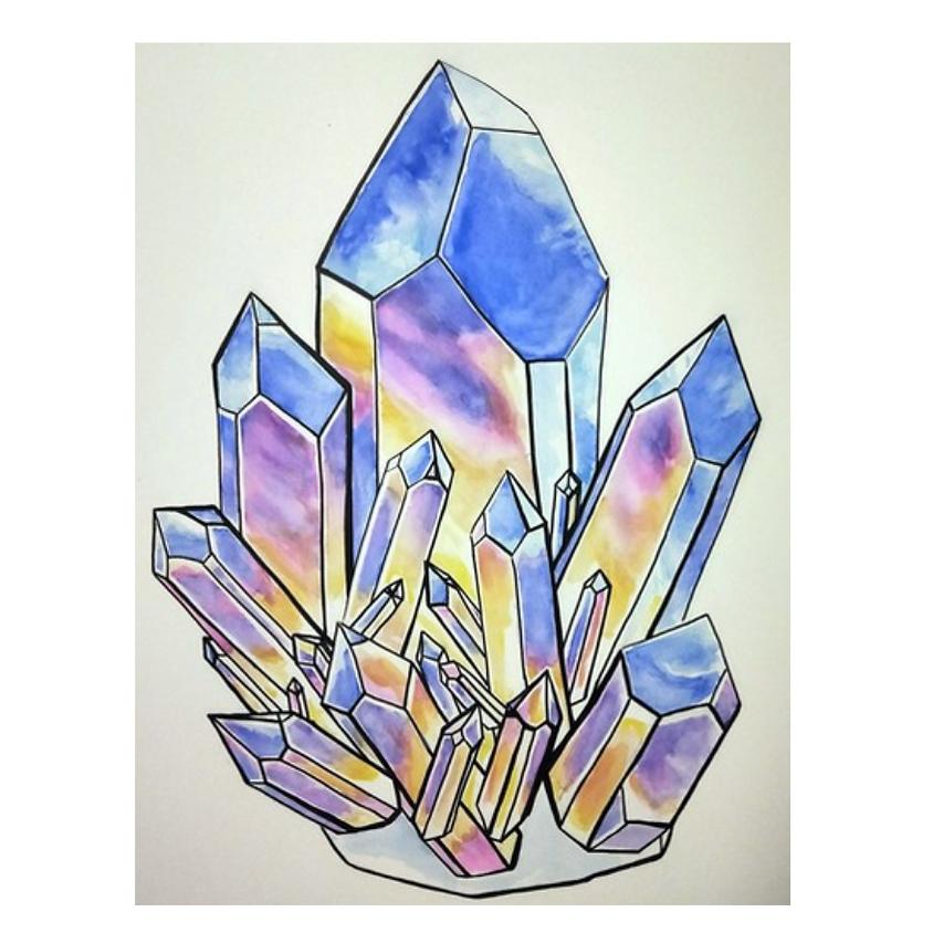 Watercolour Crystals