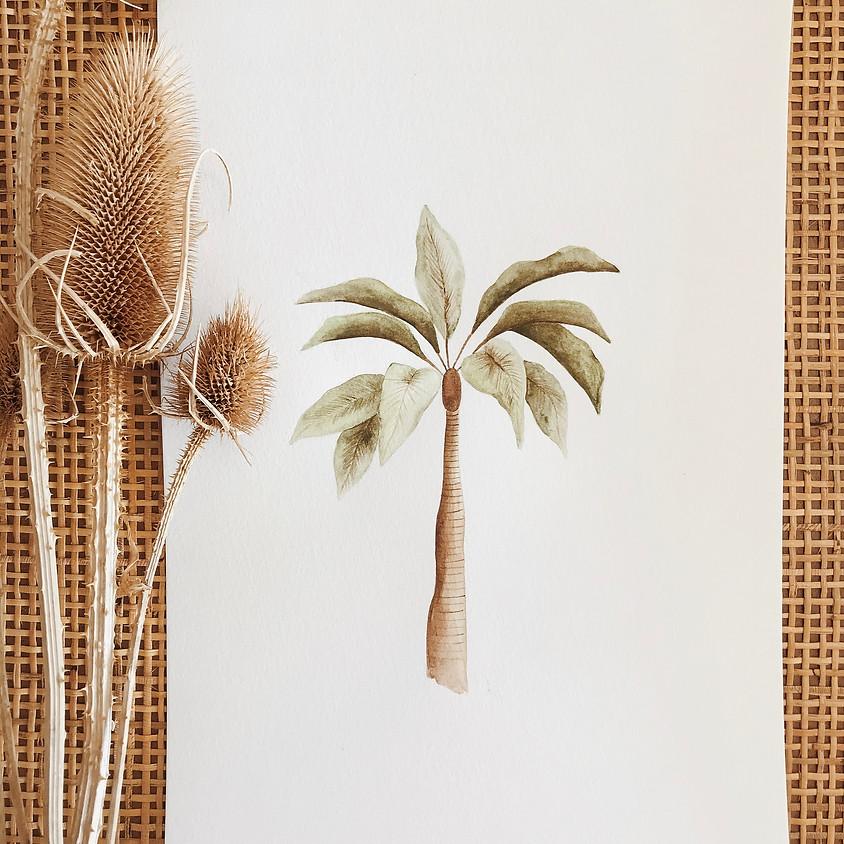 Watercolour Workshop - Palm Tree