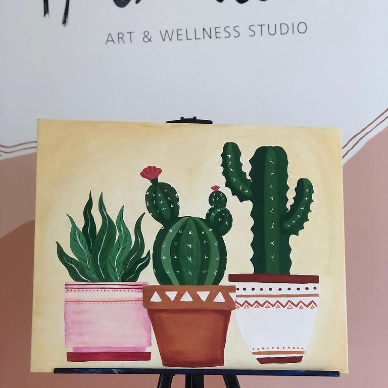 PAINT AND SIP - Cactus Pots