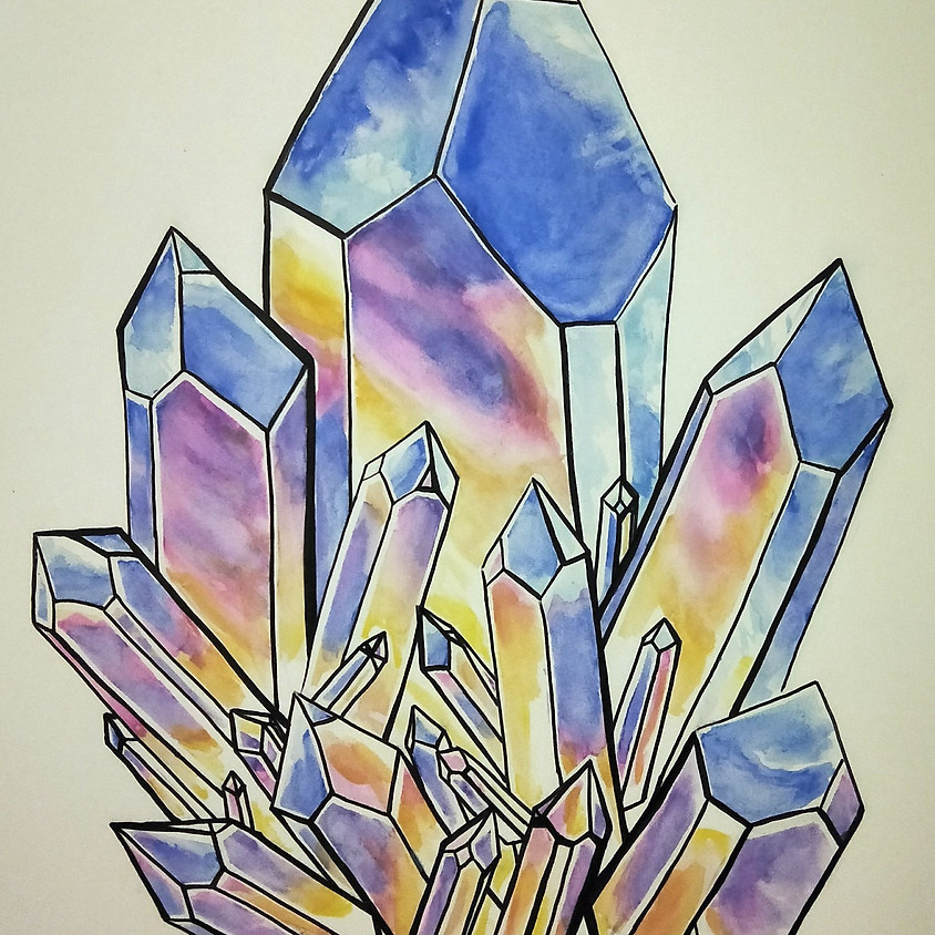 Mother & Daughter Class - Watercolour Crystals