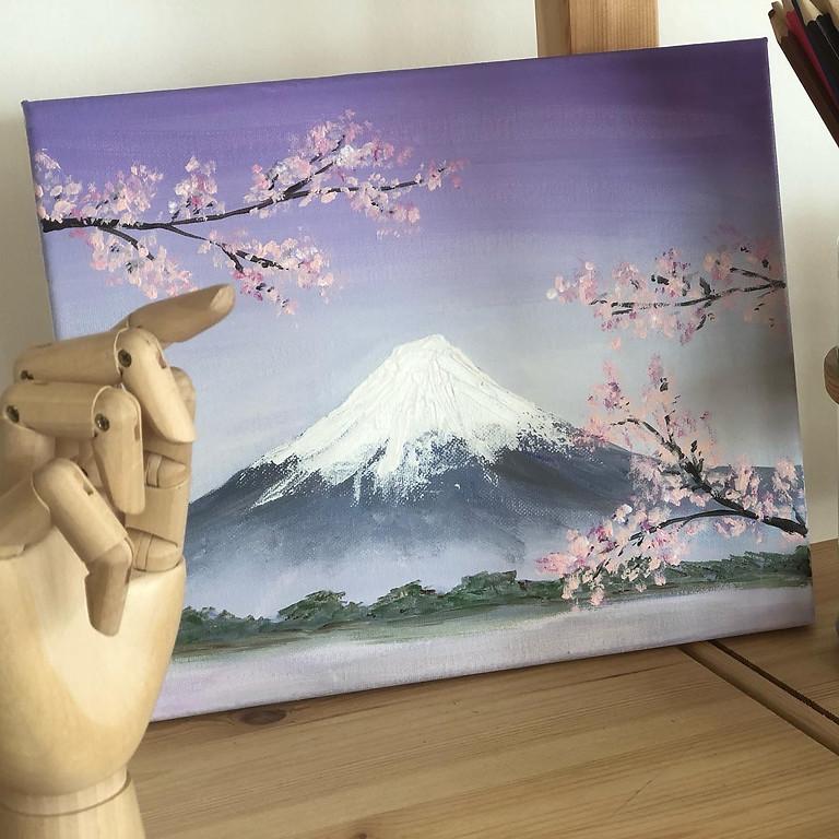 PAINT AND SIP - Mt Fuji