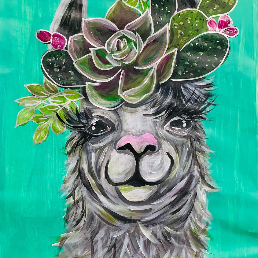 Paint a Canvas - Llama