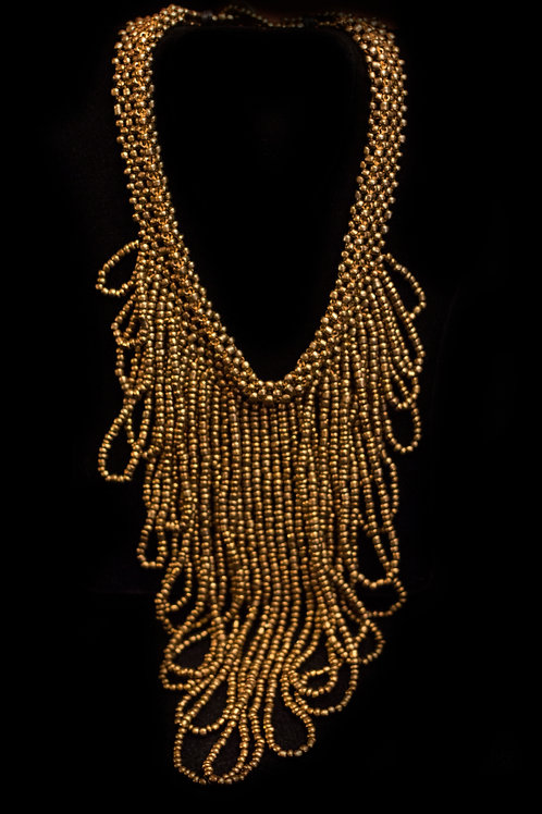 Gold Loop Chain Necklace