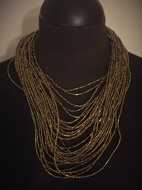 Multi Layered Necklace Gold
