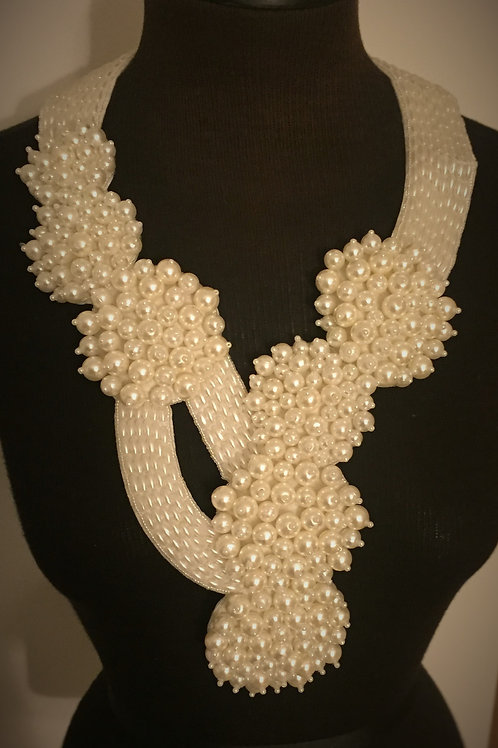 7 Tier Cream Pearl Necklace
