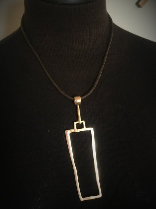 Gold Square Necklace w/Earrings