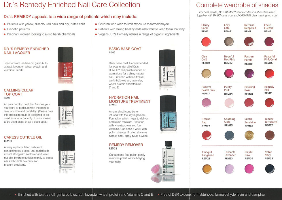 Drs remedy nail polish enriched nail care feetures footcare uk