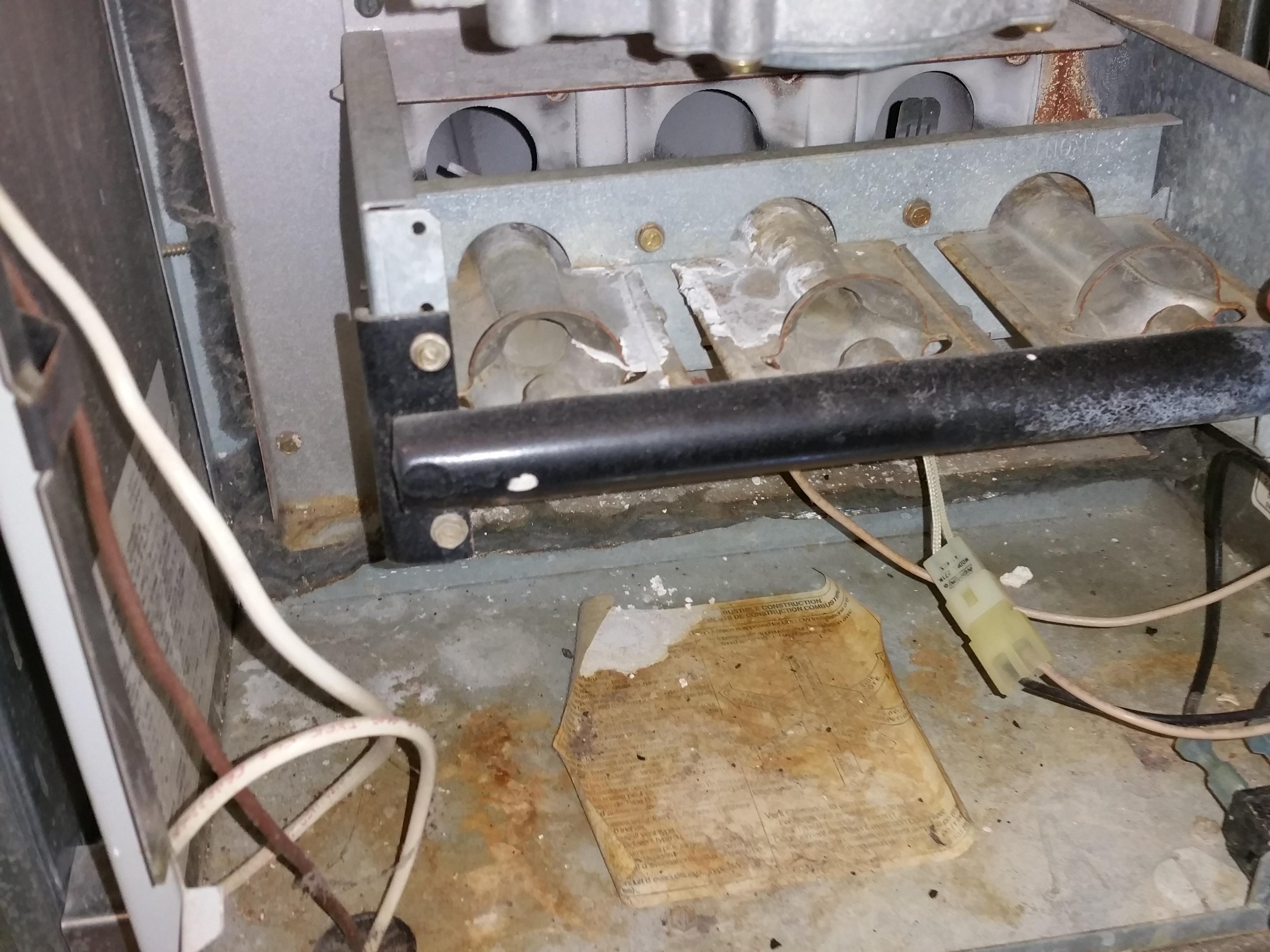 Condensation leak & Corrosion
