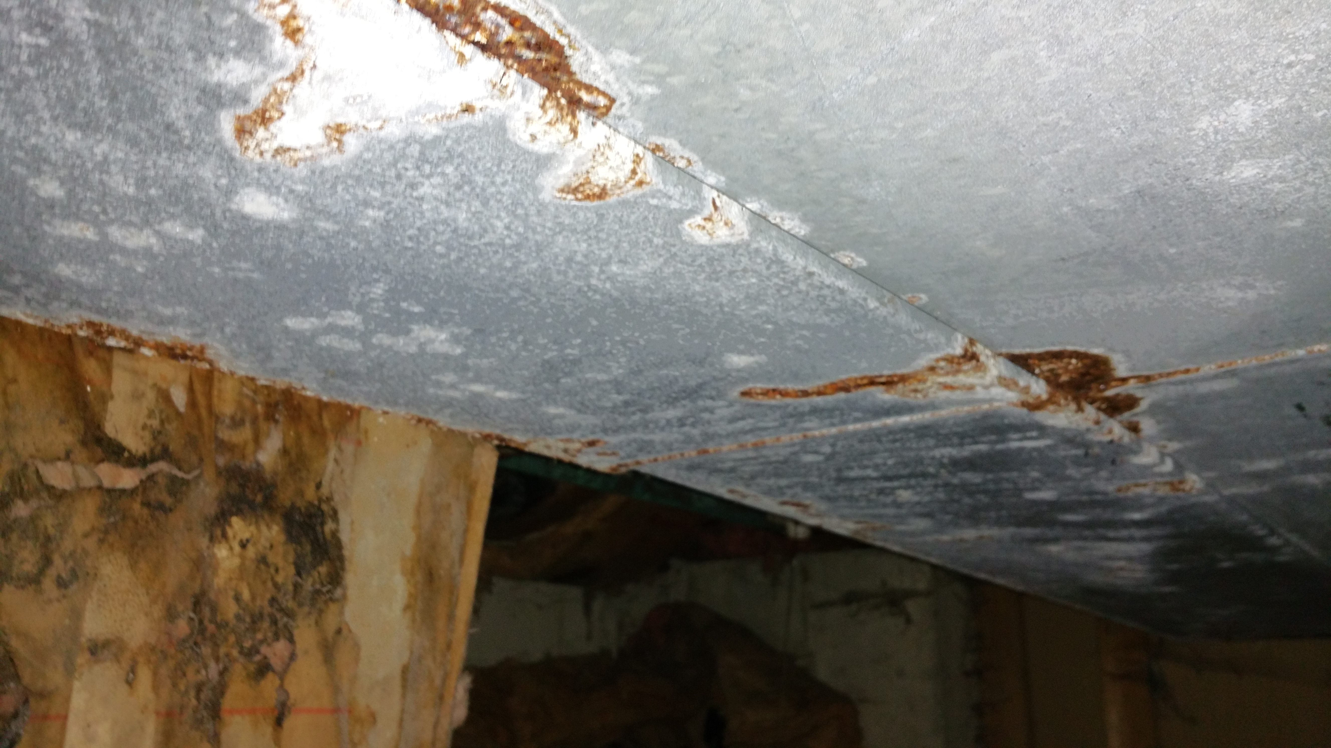 Rusted ductwork