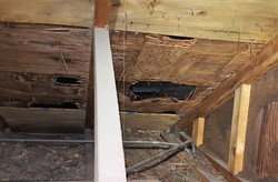 Damaged roof boards