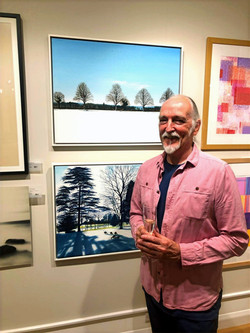 Michael Norcross with the award winning Winter The Road to Ashampstead (above) & Winter Shadows at C