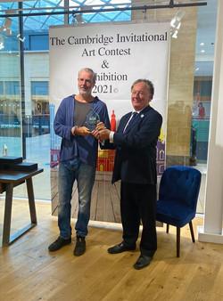 Andy Dakin receives his Cambridge Invitational Award.