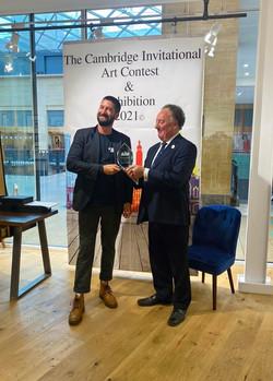 Samuel Benjamin Harris presented with his Cambridge Invitational Award