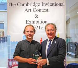 Max Morawski Presented with his Cambridge Invitational Art Award.