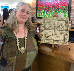 Karen Chard with her beautifully unique piece.