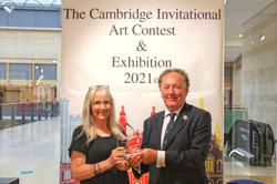 Ann Goddard collecting her Cambridge Invitational Award