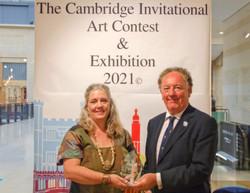 Karen Chard accepting her Cambridge Invitational Award