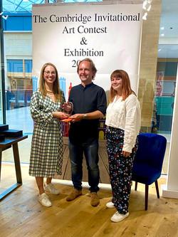 Max Morawski winner of The Scudamores Art Award.