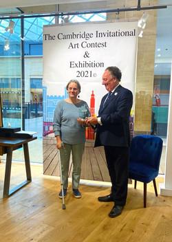 Sarah Walton collecting her Award for Mountain Pass