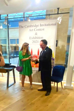 Christine Calow, Presented with her Cambridge Invitational Award.