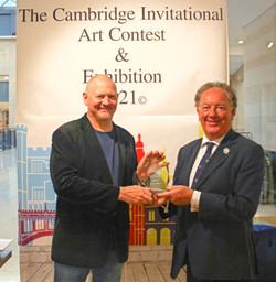 Martin Southwood presented with his Cambridge Invitational Art Award