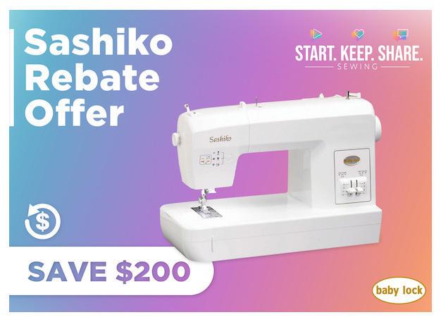 Sashiko Rebate Offer