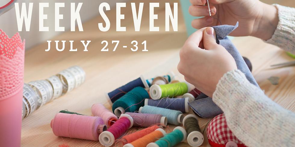 Week Seven (July 27 - 31)