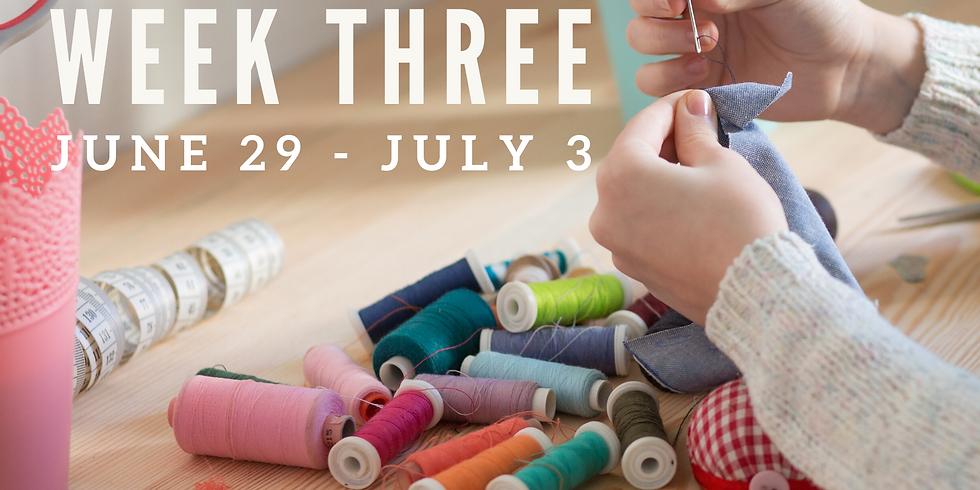 Week Three (June 29 - July 3)