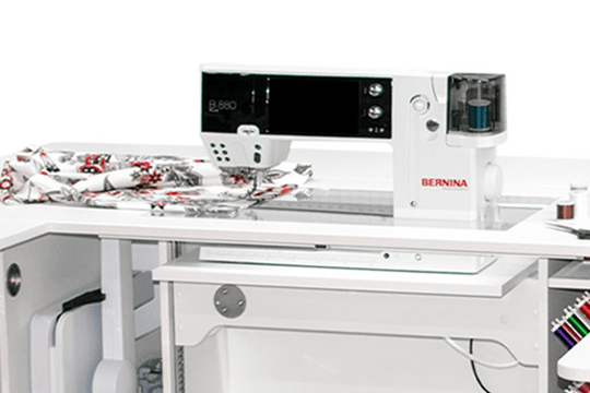 FREE BERNINA cabinet with purchase of B 880 PLUS*