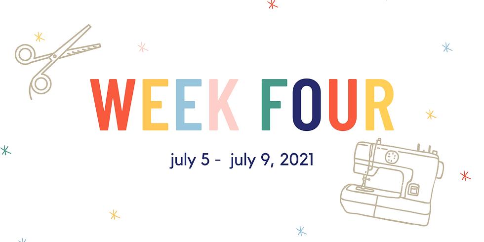 Week Four  (July 5 - July 9, 2021)