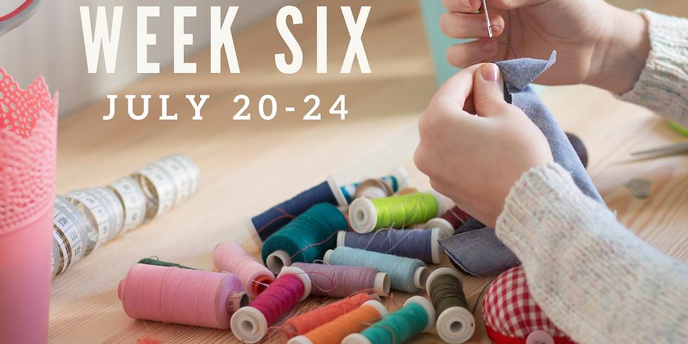 Week Six  (July 20 - 24)