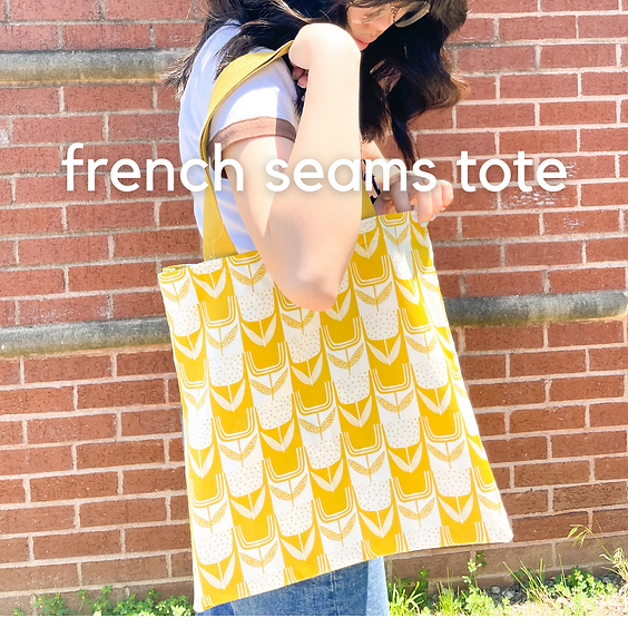 Learn to Sew: French Seams Tote Bag