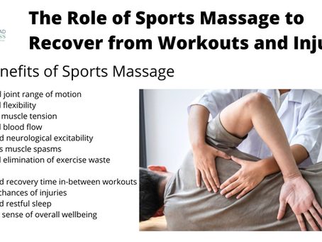 The Role of Sports Massage to Recover from Workouts and Injuries