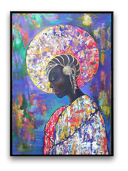 African Girl African Art, African Portrait Pain