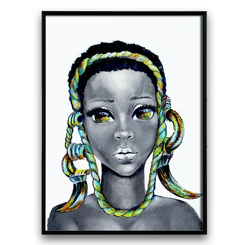 : African Girl African Art, African Portrait