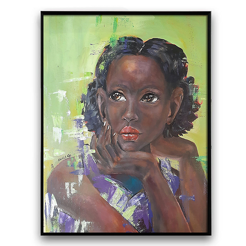 """Why DO You Say?"":African Girl African Art, African Portrait Painti"