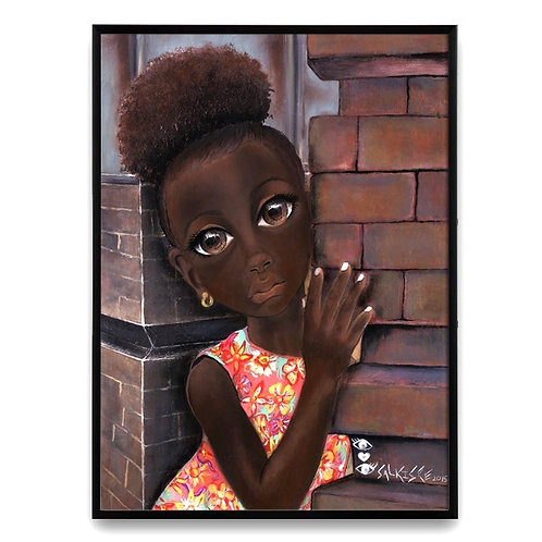 "Isabella Doesn't Want to Leave"":African Girl African Art, African Painting"