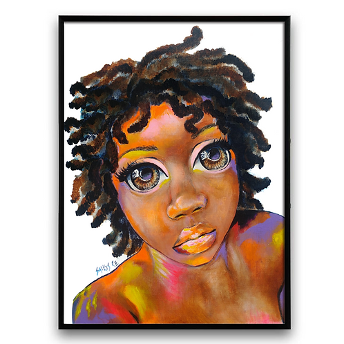 """More Love"": African Girl African Art, African Portrait Painting,"