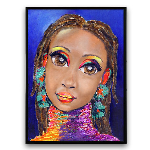 """Waiting On Your Love Baby"":African Girl African Art, African Portrait Painting"