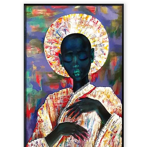 African Girl African Art, African Portrait Pain
