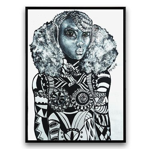 """Balanced"":African Girl African Art, African Portrait Painting,  African Art"