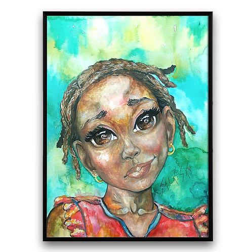 water color portrait