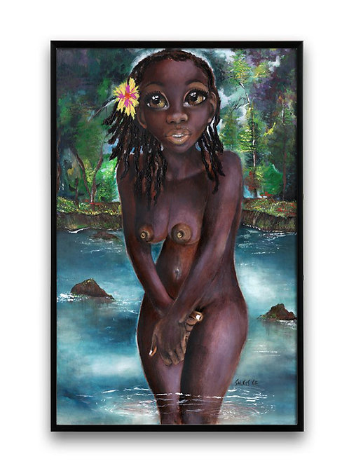 Dark skin girls in art