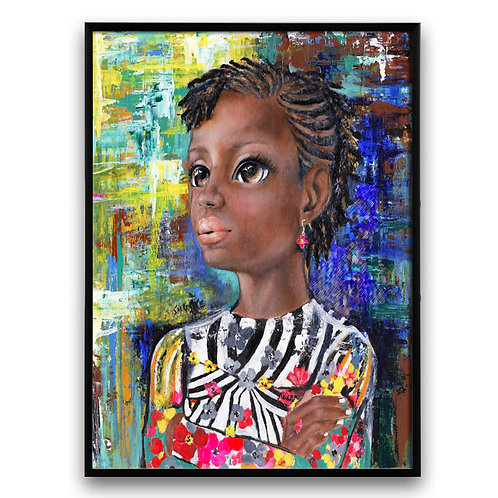 """I'm Watching"":African Girl African Art, African Portrait Painting,  African Art"