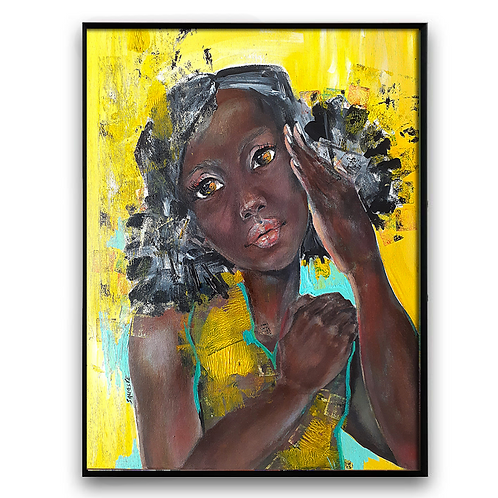 """Why DO You Say""#3:African Girl African Art, African Portrait Painti"
