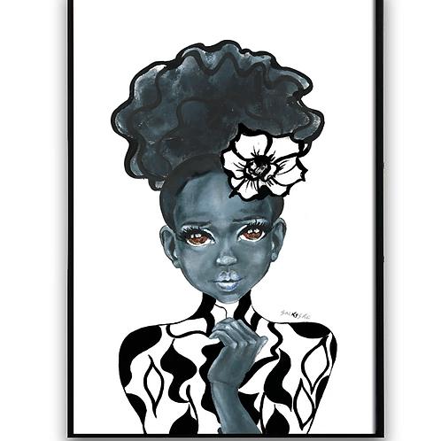 African Girl, African Art, Black Art