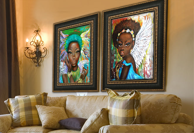 Abstract Portrait Painting, African Art