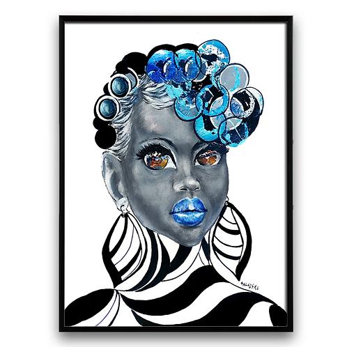 African Art, African Girl, Afro Art, African Painting
