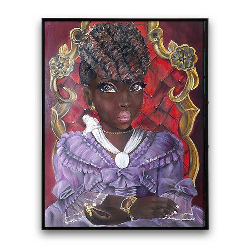 """""""Princess"""" African Girl African Art, African Portrait"""