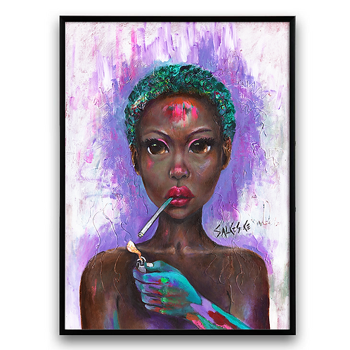 African Girl, African Art, African Painting, Abstract Art, Abstract Po